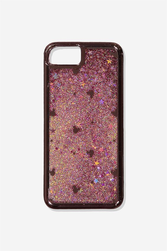 Shake It Phone Case Universal 6,7,8, LCN DIS ROSE GOLD MICKEY HEAD DISC