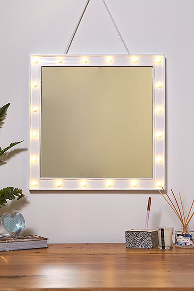 50 X 50 Marquee Mirror, WHITE
