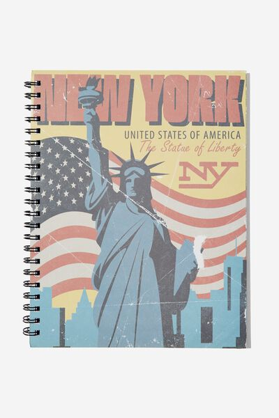 A4 Campus Notebook, NEW YORK LIBERTY