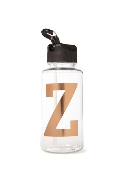 Alphabet Drink Bottle, ROSE GOLD Z