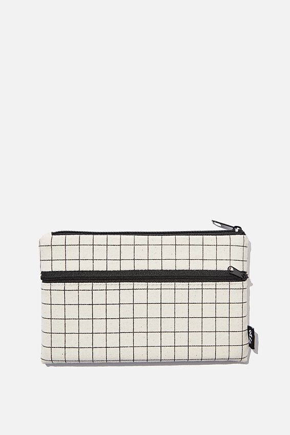 Archer Pencil Case, PLAIN GRID