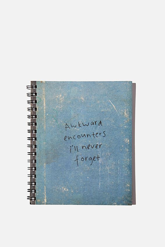 A5 Campus Notebook Recycled, AWKWARD ENCOUNTERS