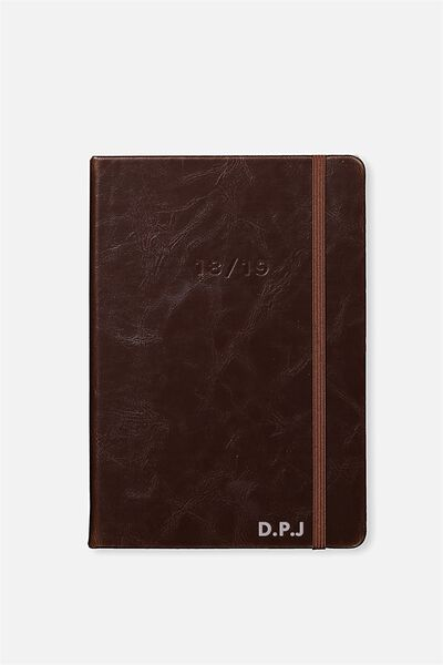 Personalised 2018 19 A5 Daily Buffalo Diary, RICH TAN
