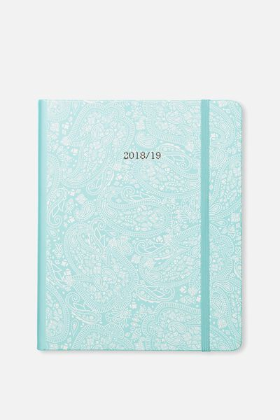 2018 19 Daily 18 Month Diary, BLUE LACE