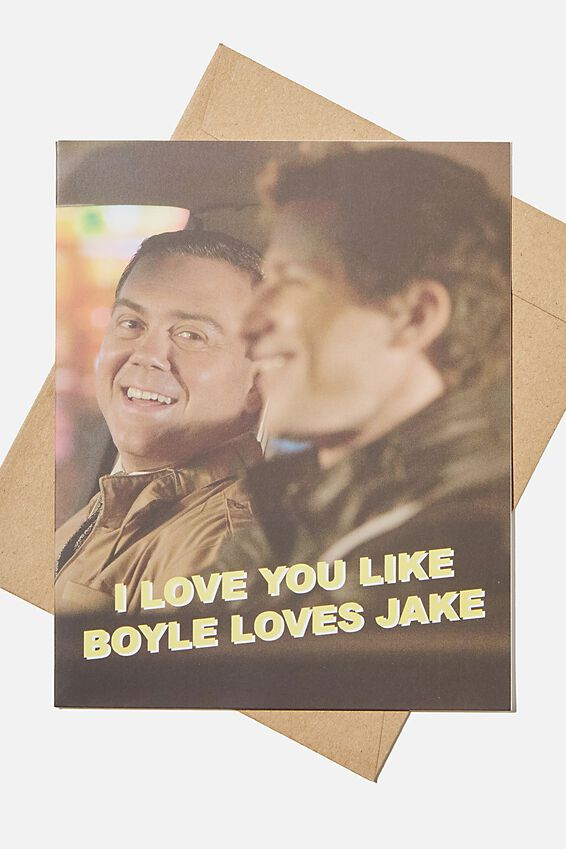 Brooklyn Nine-Nine Love Card, LCN UNI BROOKLYN BOYLE LOVES JAKE