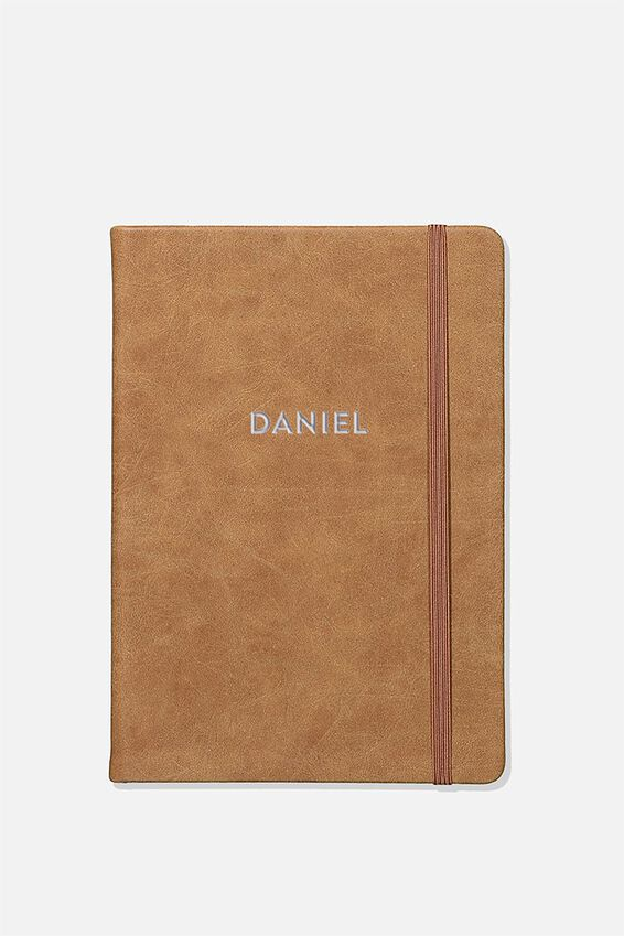 "Personalized A5 Buffalo Journal (8.27"" x 5.83""), MID TAN"