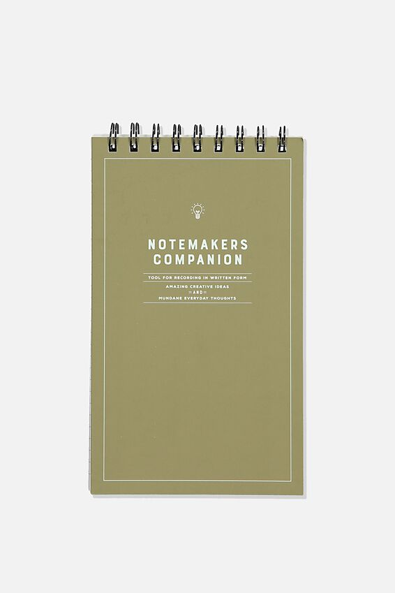 Flipout Notepad Recycled, NOTEMAKERS CAMPANION GREEN