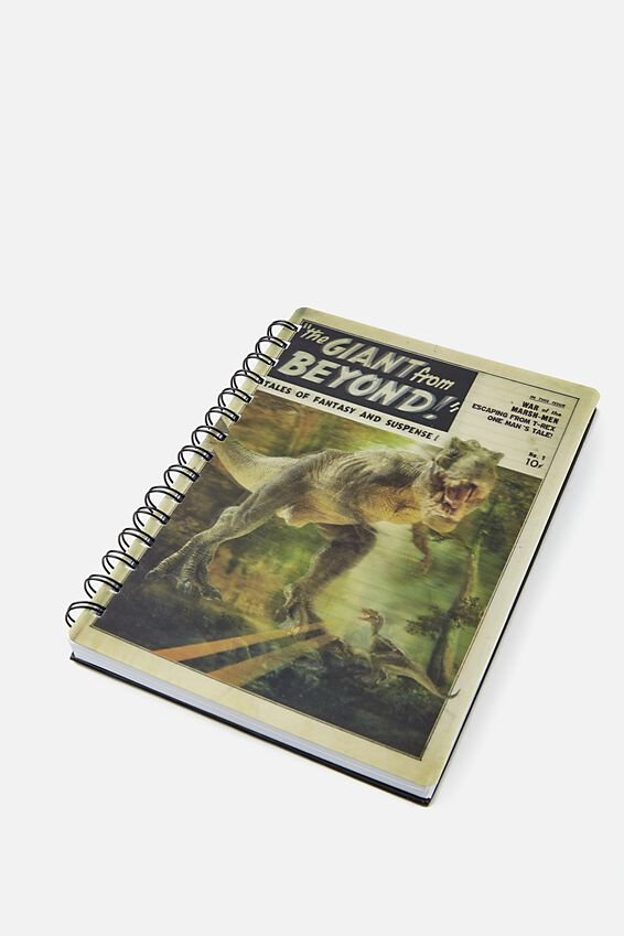 A5 Dinosaur Lenticular Notebook, GIANT FROM BEYOND