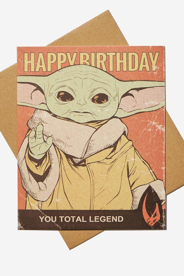 Star Wars Funny Birthday Card, LCN LU THE MANDOLORIAN THE CHILD