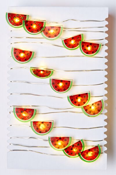 3M Novelty Twinkle Lights, WATERMELONS