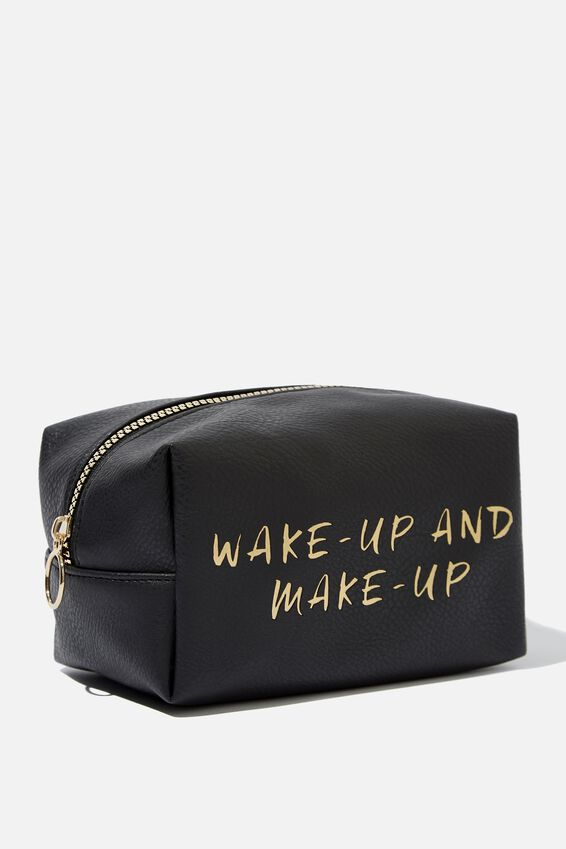 Made Up Cosmetic Bag, WAKE UP MAKE UP