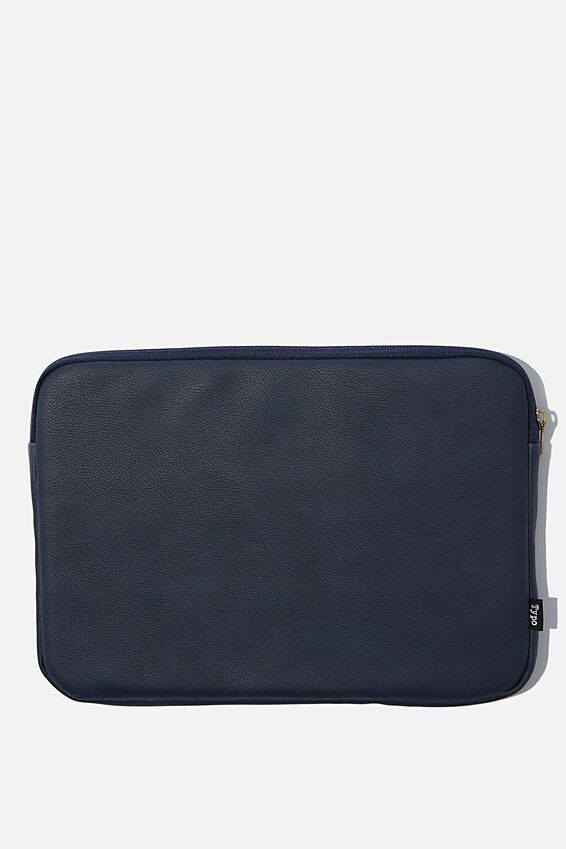 Personalised Take Charge 13 Inch Laptop Cover, NAVY WEAVE