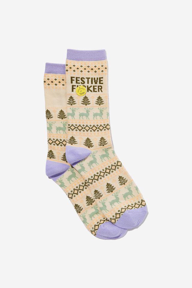 Socks, FESTIVE F*CKER!!