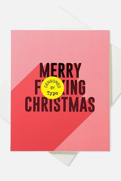 2018 Christmas Card, MERRY F*ING CHRISTMAS!!
