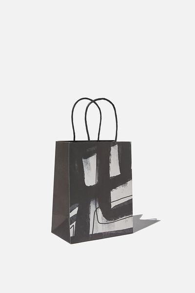 Get Stuffed Gift Bag - Small, BLACK WHITE STRIPE ARTIST