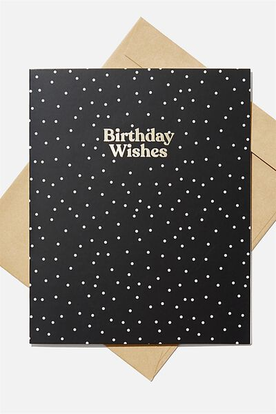 Nice Birthday Card, BIRTHDAY WISHES BLACK SPOT