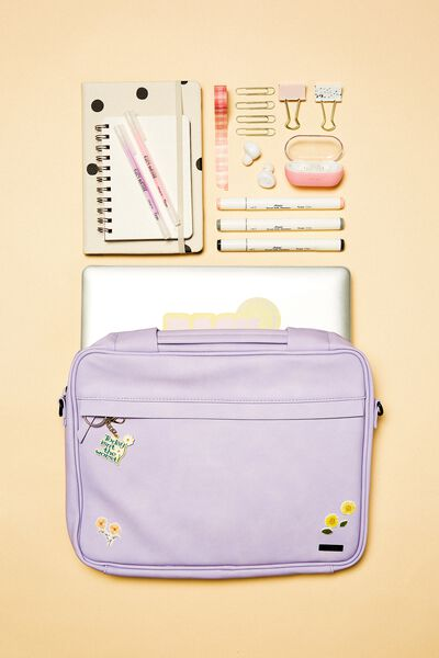 Mobile Desk 13 Inch, PALE LILAC & GINGHAM PALE LILAC