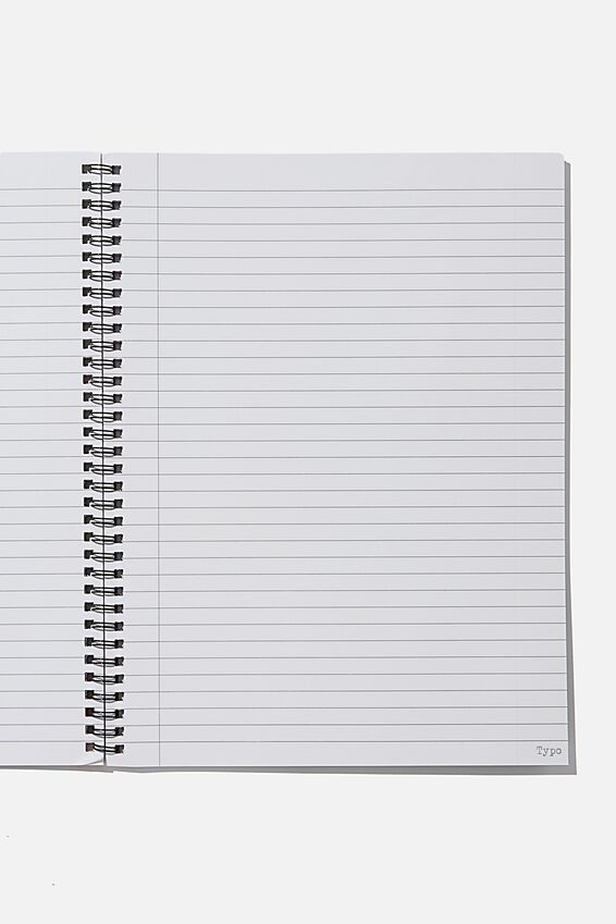 A4 Spinout Notebook Recycled, STRONG SMART FIERCE