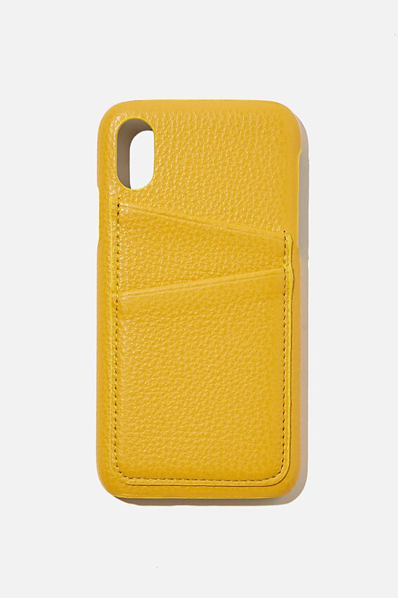 Cardholder Phone Case iPhone X, Xs, MUSTARD
