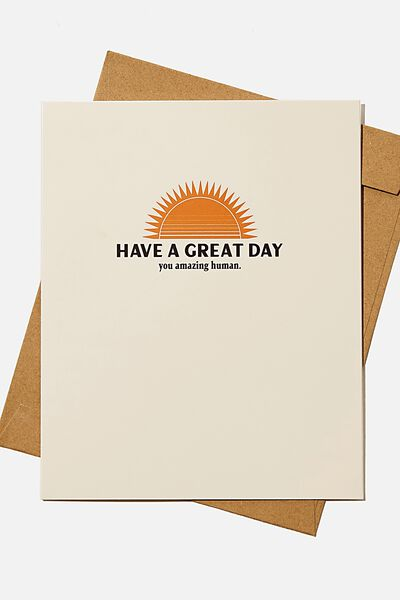 Nice Birthday Card, SUN YOU AMAZING HUMAN