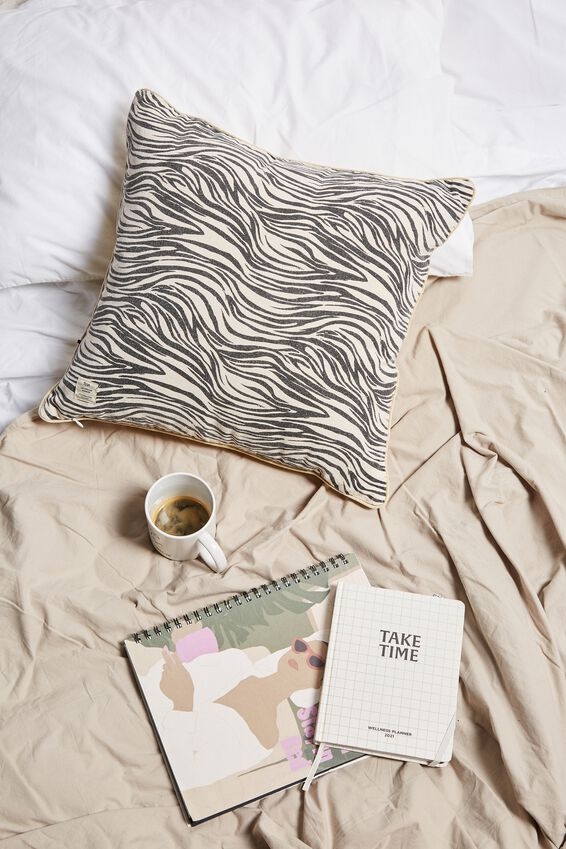 Square Cushion, ZEBRA SELF LOVE