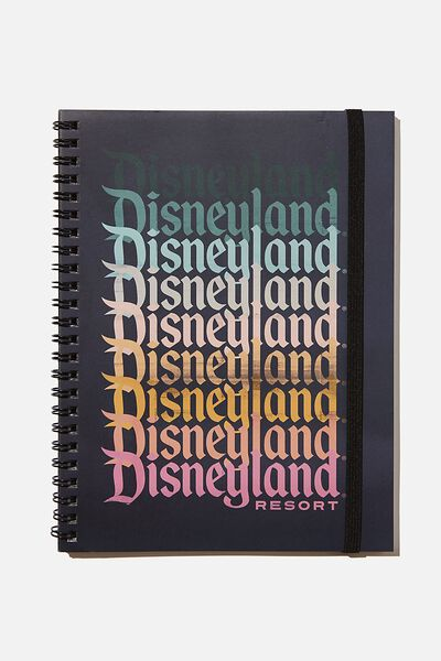 A5 Spinout Notebook Recycled, LCN DISNEYLAND OMBRE REPEAT