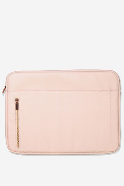 Take Charge 15 Inch Laptop Cover, BLUSH WEAVE