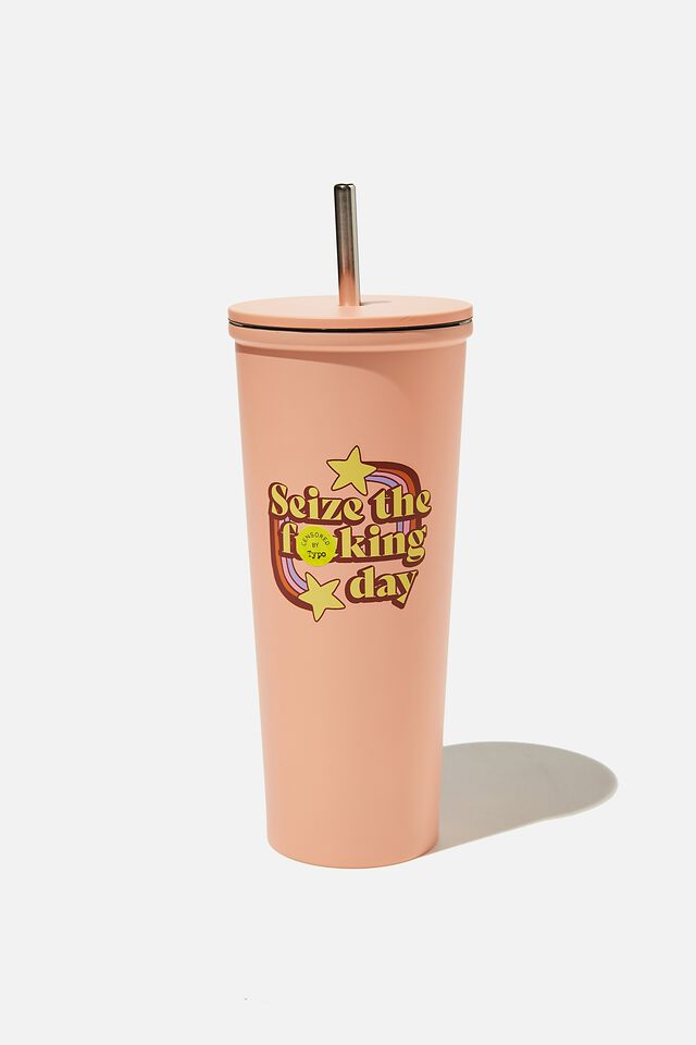 Metal Smoothie Cup, SEIZE THE DAY!!