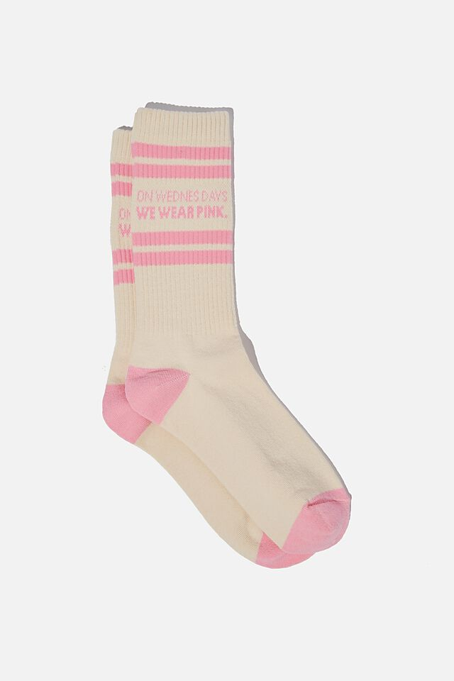 Mean Girls Socks, LCN PAR MG WEDNESDAYS TUBE