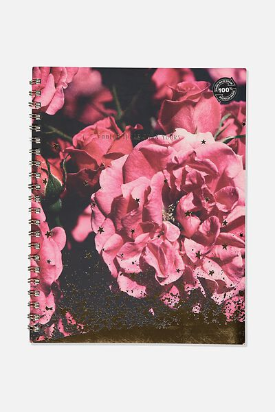 A4 Campus Notebook Dot Internal Recycled, PEONIE ROSE