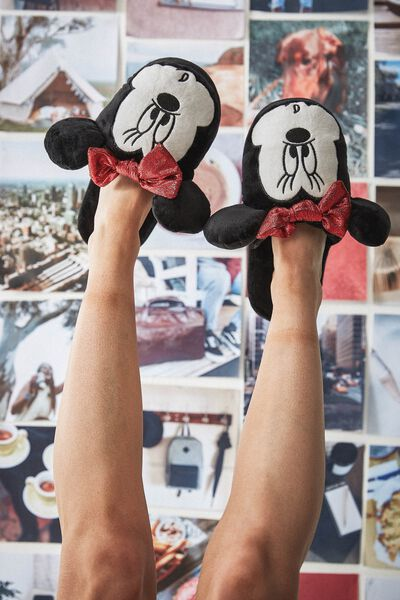 Novelty Slippers, LCN MINNIE FACE