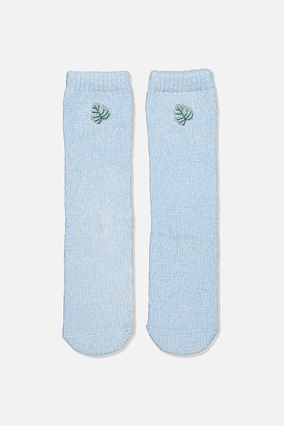Textured Socks, MONSTERA LEAF