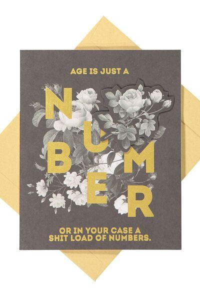 Premium Nice Birthday Card, ARTIST SERIES NUMBER!