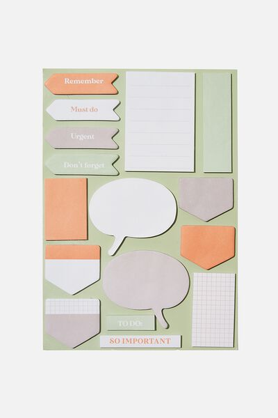 "A5 Shaped Sticky Note (8.27"" x 5.83""), GREEN & PINK"