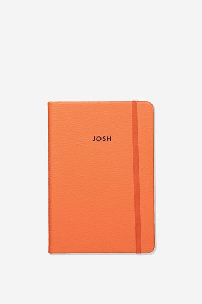 Personalised A5 Buffalo Journal, DEEP CORAL