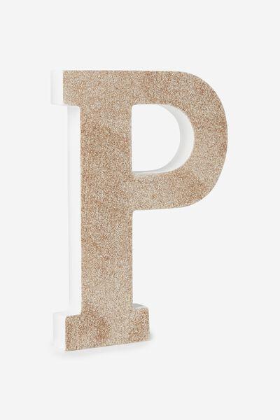 Glitter Letterpress, PALE GOLD GLITTER P