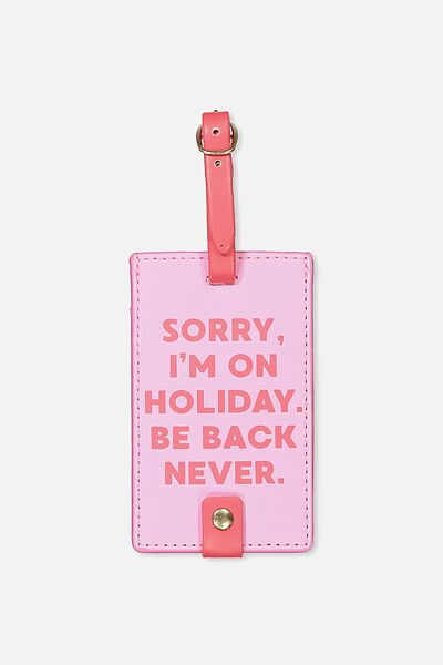 Core Luggage Tag, PINK & RED BE BACK