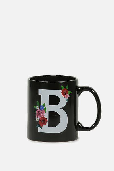 Alpha Anytime Mug, FLORAL ALPHA B