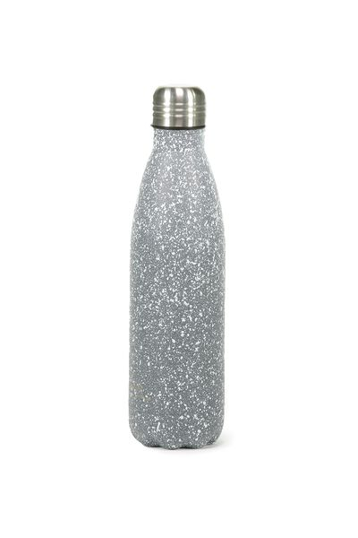 Metal Drink Bottle, GREY PAINT SPLATTER