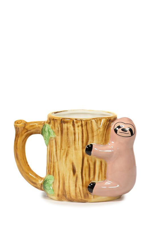 Novelty Shaped Mug, SLOTH LOG