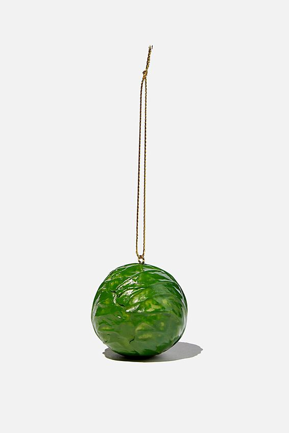 Resin Christmas Ornament, BRUSSEL SPROUT