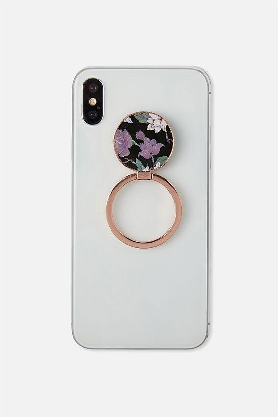 Metal Phone Ring, LUSH FLORAL