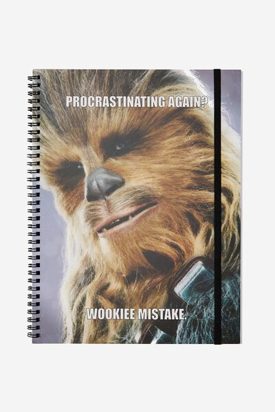 A4 Spinout Notebook - 120 Pages, LCN LU CHEWY WOOKIE MISTAKE