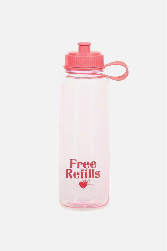 The Quencher Drink Bottle, FREE REFILLS