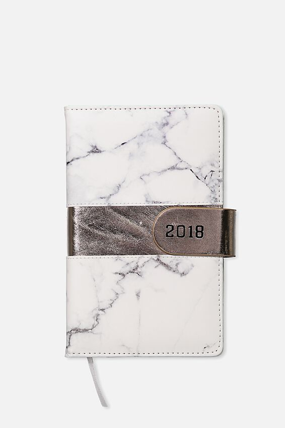 2018 Deluxe Diary, MARBLE