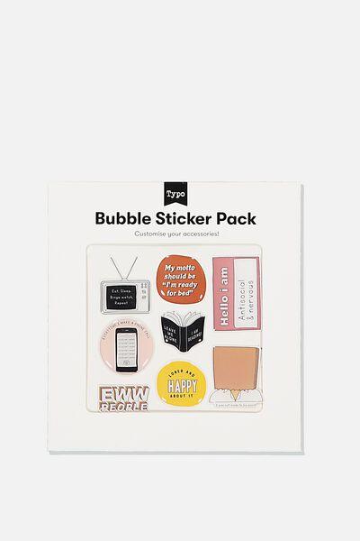 Bubble Sticker Pack, EWW PEOPLE