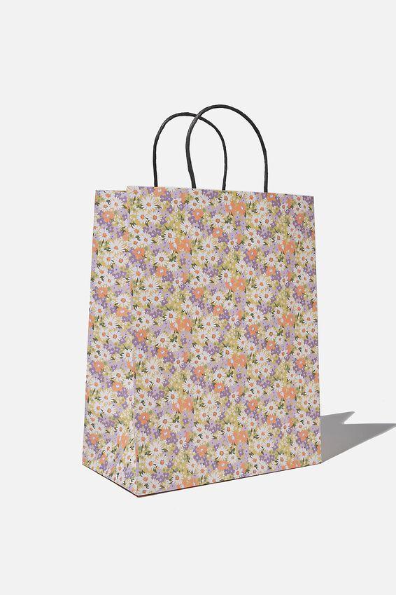 Get Stuffed Gift Bag - Medium, DITSY 70S PASTEL FLORAL