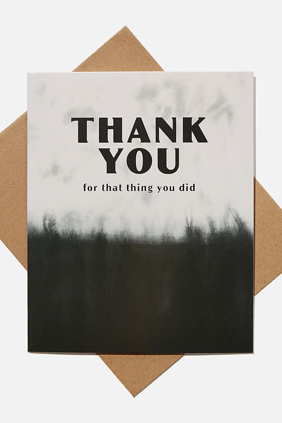 Thank You Card, DIP DYE FOR THAT THING YOU DID