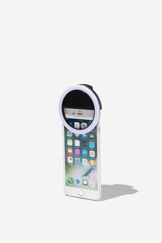 Selfie Phone Ring Light, BLACK