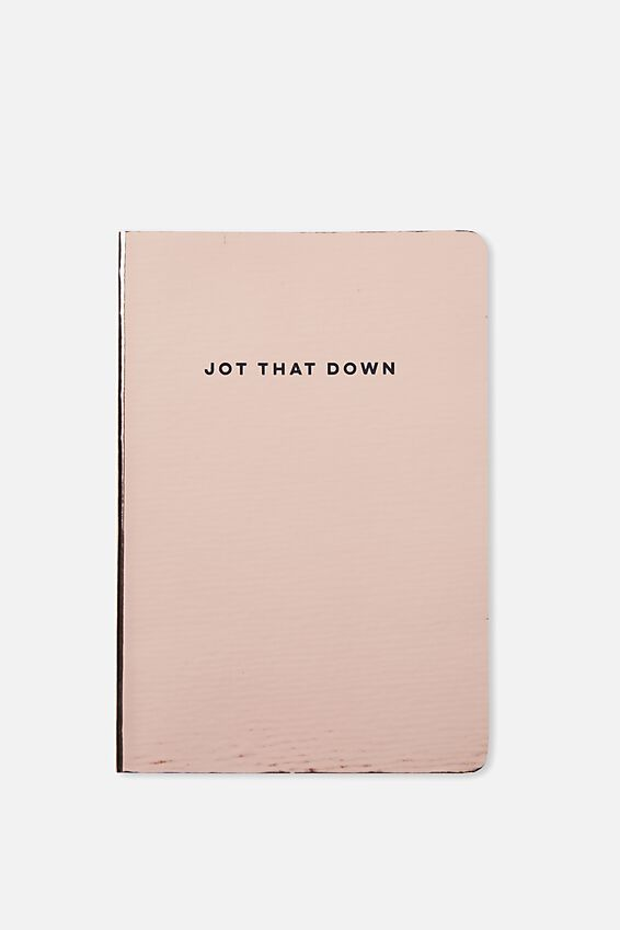 A5 High Shine Notebook, ROSE GOLD